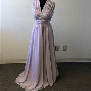 Light purple chiffon dress